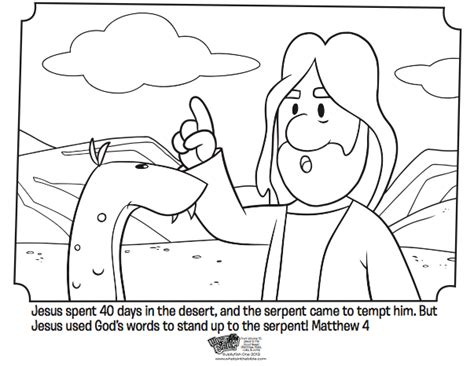 Jesus Tempted Bible Coloring Pages What S In The Bible