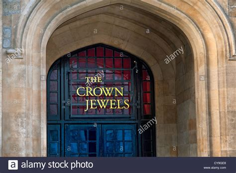 the jewel house the crown jewels sign at the entrance to the jewel house tower of stock photo royalty free