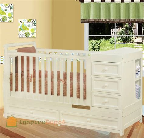 Baby Cribs With Changing Table White Crib Changing Table Dresser Baby Crib Design Inspiration