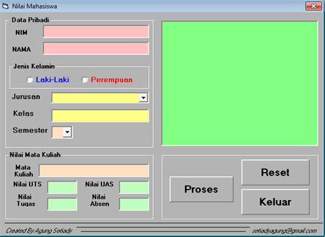 membuat aplikasi database sederhana berbasis website membuat aplikasi perhitungan nilai sederhana menggunakan