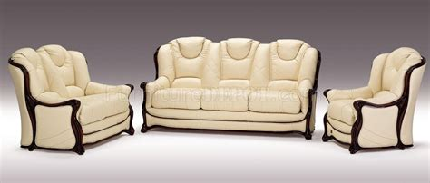 ivory leather sofa set full top grain italian leather 3 piece living room set