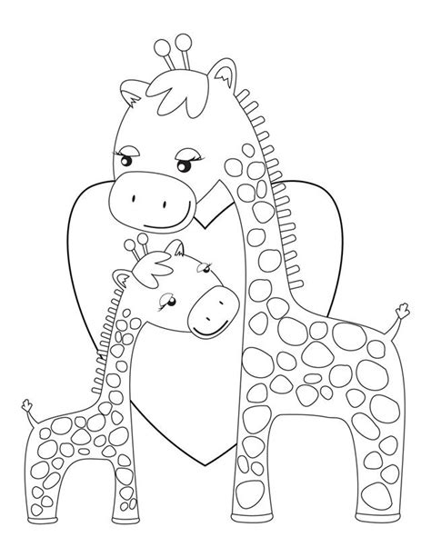 coloring pages of cartoon giraffes free coloring pages of cartoon giraffe