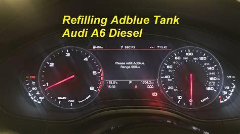 Adblue Audi by Refilling Adblue Myself Audi A6 Diesel Using 10l Adblue