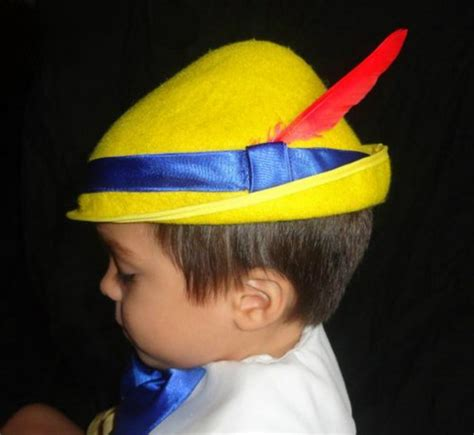 custom pinocchio costume hat yellow tyrolean alpine styl