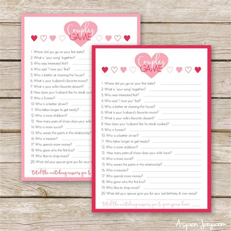 printable card games for couples free valentines couples game cards aspen jay