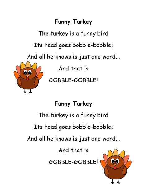 Literacy Minute: Turkey Poems for Thanksgiving