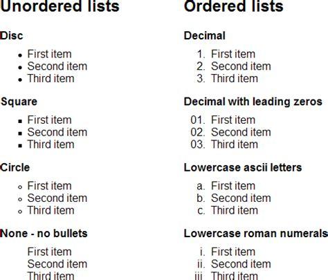 Html Lite by Html Lists Megatek Ict Academy