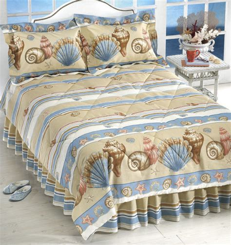 beach themed comforter sets twin seashell beach house themed twin comforter sham bed