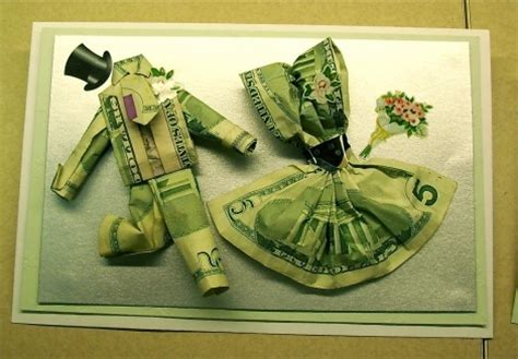 Money Origami And Groom - origami money for a wedding gift