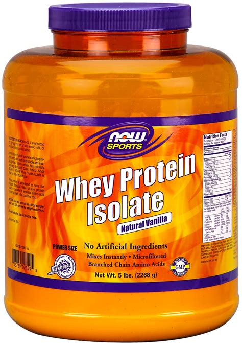 Now Whey Protein Isolate now foods sports whey protein isolate vanilla 5 lb