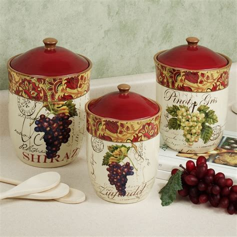 wine kitchen canisters 17 best images about grape home decor on pinterest