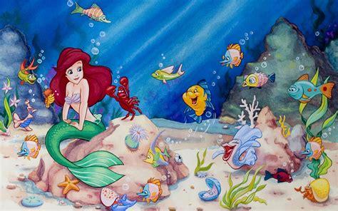 little mermaid disney cartoon fishes hd wallpaper little mermaid wallpaper high quality hd 16251 amazing