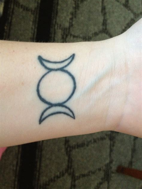 triple moon tattoo wrist wiccan symbol for goddess ideas