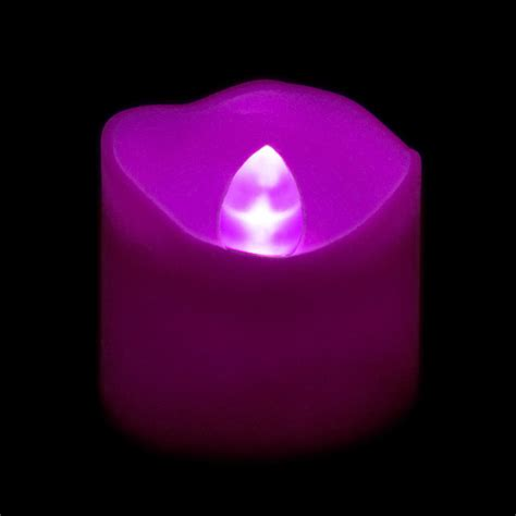 Purple Candles Flickering Battery Votive Candle Purple