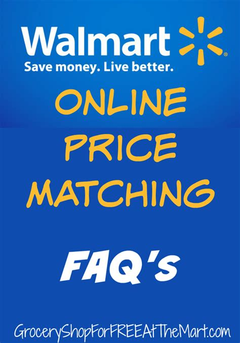 walmart price matching faqs grocery shop for
