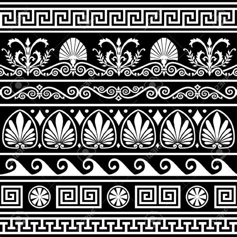 23 Greek Ornament Mosaic Patterns Patterns Design Trends Ornament Stencil Template