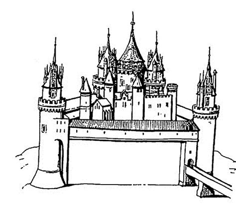 coloring page cinderella s castle free printable castle coloring pages for kids
