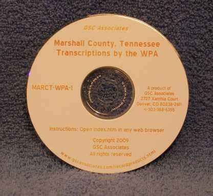 Marshall County Records Marshall County Tennessee Records Transcribed And Indexed By The Wpa