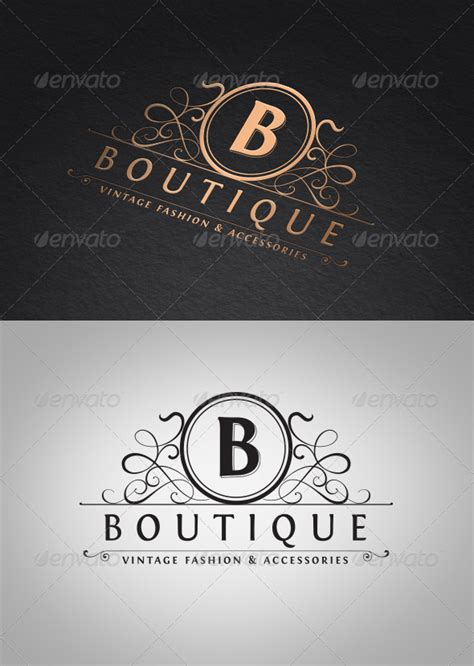 boutique templates vintage boutique logo template graphicriver