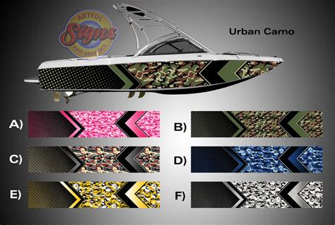 layout boat camouflage urban camo arrow design camouflage boat wrap wrap