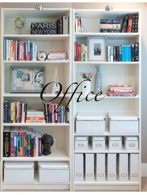 book shelf organization all white boxes magazine