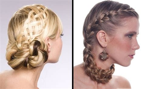 Hair of braided updo hairstyles by hair salon as formal hairstyles