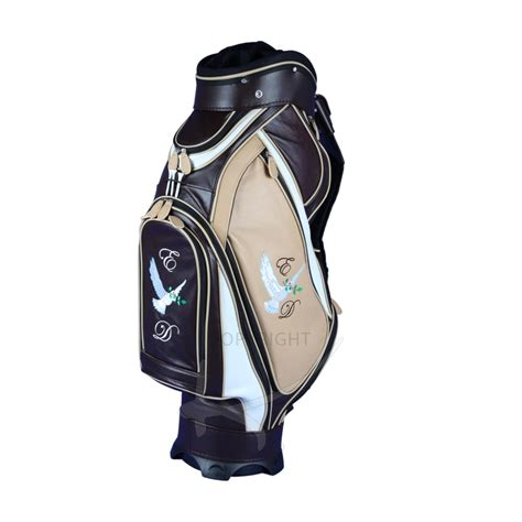 luxury custom golf bag genuine leather kellermann