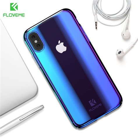 floveme blue light for iphone x iphone xs max luxury pc phone for iphone xr 8