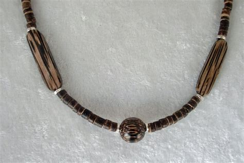 Wooden Earth Tones Beaded Necklace