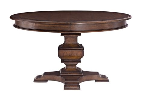 Thomasville Dining Room Table by Clear Coating Wooden Pedestal Based For Square Wooden Side