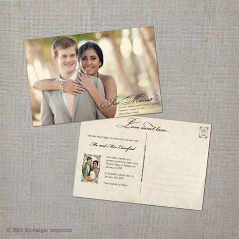 Wedding Announcement Cards wedding announcement vintage wedding announcement cards