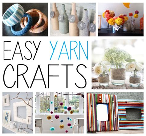 easy yarn crafts for yarn crafts easy and creative ways to use yarn without