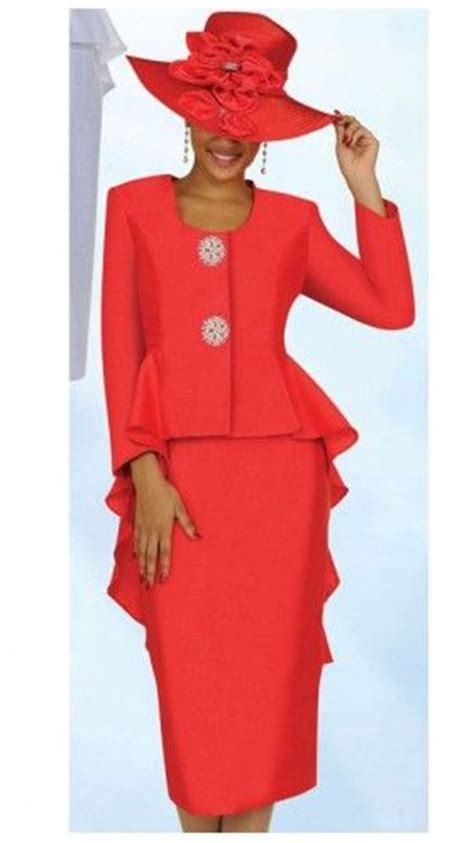 GMI Red Fishtail Women Church Suit | church hats ...