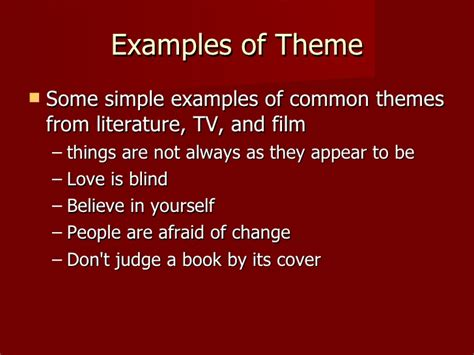 themes used in stories short story elements