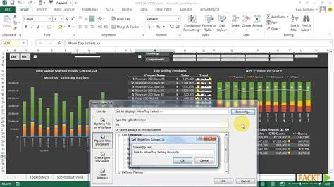 tutorial dashboard design excel 2013 dashboard design tutorial utilizing hyperlinks