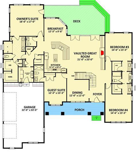craftsman floor plans 2018 plans maison en photos 2018 spacious craftsman house plan with superb owner s suite 46305la