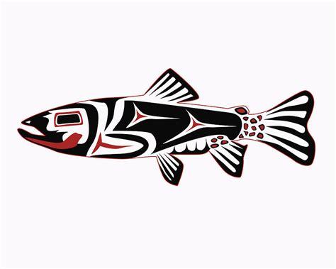 haida trout digital art by rob tullis