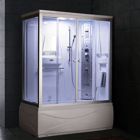 steam shower bath combination ariel ss 608a steam shower with whirlpool bathtub