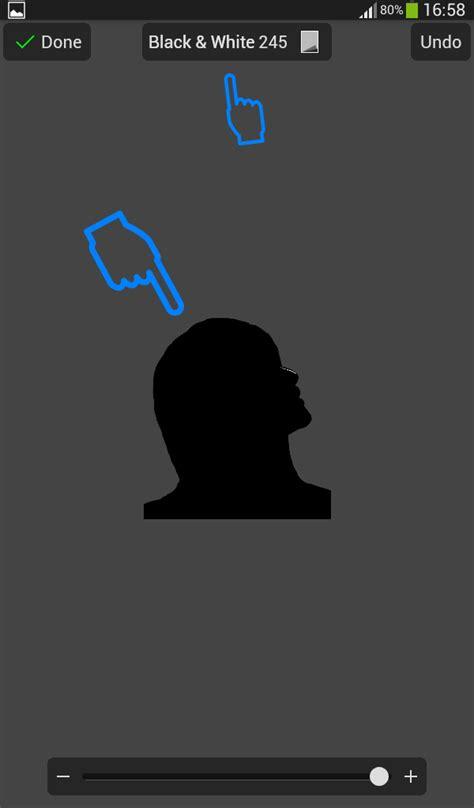 membuat foto siluet  android  picsay pro