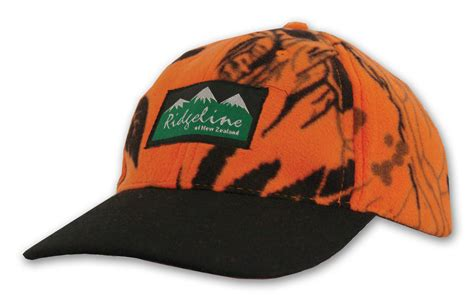 blaze orange camo hat hydra fleece cap blaze orange camo getaway outdoors