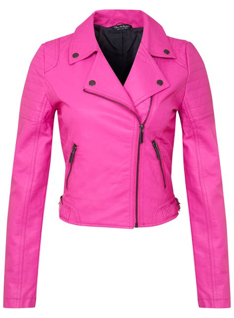 pink motorcycle jacket pink leather biker jacket pink faux leather biker jacket