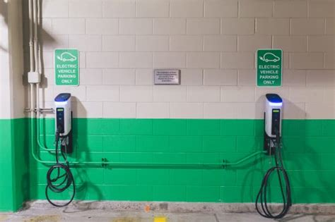 Electric Car Charging Ports by Electric Car Chargers Installed In Clifton Parking Garage