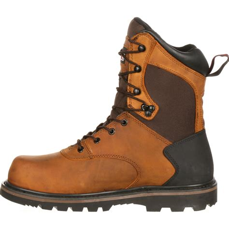 rocky s 8 quot steel toe waterproof work boot 6546