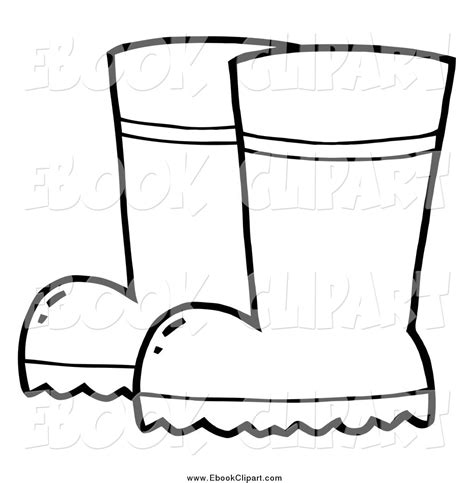 rubber boot template royalty free coloring book page stock ebook designs page 3