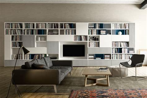 libreria parete attrezzata libreria soggiorno moderna 599 napol arredamenti
