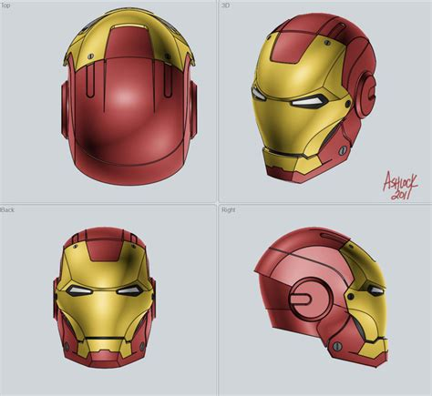 Kaos 3d Square Ironman Side How To Model Iron Mask In Solidworks Grabcad