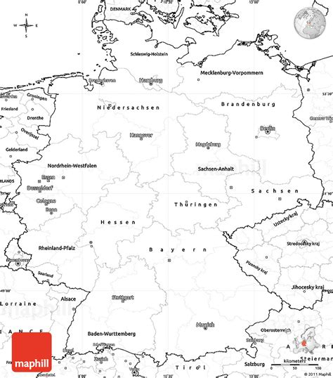 printable maps germany blank simple map of germany