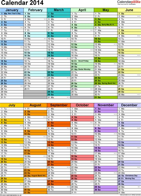 planner template 2014 excel year planner calendar 2014 uk 15 free printable