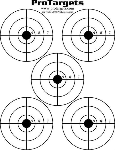 printable targets pdf shooting targets target shooting targets and shooting on