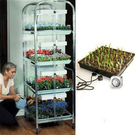 Warming Mat For Plants by 4 Tier Grow Light Plant Stand Heat Mat Kit 8 Trays